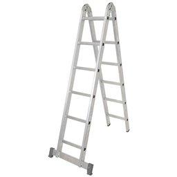 Escada Multifunções 3 em 1 com 6 Degraus