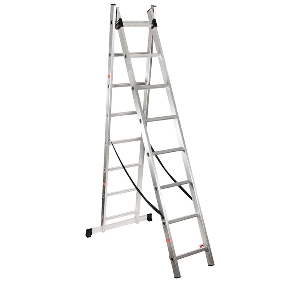 Escada Extensiva Alumínio 2x7 Degraus