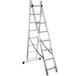 Escada Extensiva Alumínio 2x8 Degraus