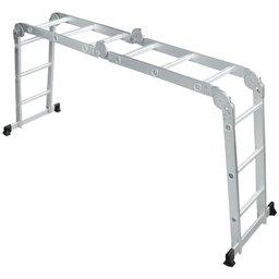 Escada Multifuncional em Alumínio 4 x 3 com 12 Degraus 3,39m