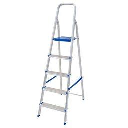 Escada de Alumínio de 5 Degraus para Uso Doméstico