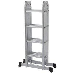 Escada Multifuncional 4x4 com 16 Degraus de Alumínio