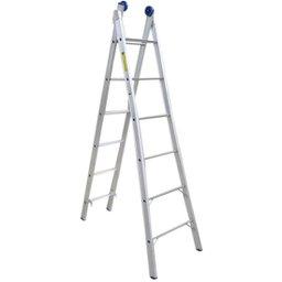Escada Extensível 2 x 6 Degraus de Alumínio