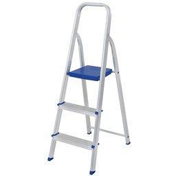 Escada de Alumínio com 3 Degraus para Uso Doméstico