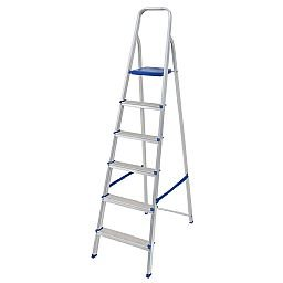 Escada de Alumínio com 6 Degraus para Uso Doméstico