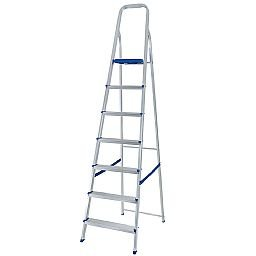 Escada de Alumínio de 7 Degraus para Uso Doméstico