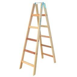 Escada de Madeira Pintor 1,70m com 6 degraus