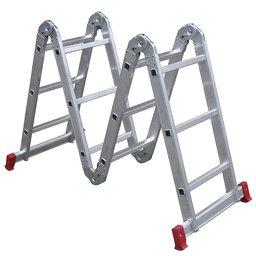 Escada Articulada 3x4 com 12 Degraus de Alumínio