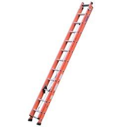 Escada Extensível Vazada Laranja 6 Metros 19 Degraus Tipo D