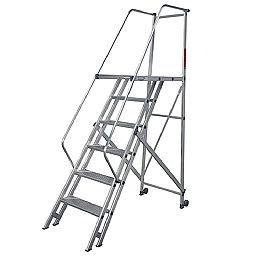 Escada de Alumínio Tipo Plataforma 6 Degraus 1,75 Metros