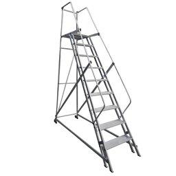 Escada Plataforma em Alumínio 2,25m com 8 Degraus