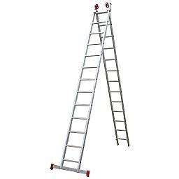 Escada Extensiva 3 em 1 em Alumínio 13 x 2 Degraus