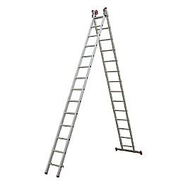 Escada Extensiva 3 em 1 em Alumínio 14 x 2 Degraus