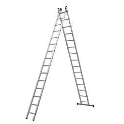 Escada Extensiva 3 em 1 em Alumínio 15 x 2 Degraus