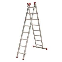 Escada Extensiva 3 em 1 em Alumínio 8 x 2 Degraus