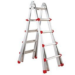Escada em Alumínio de 6 Degraus Extensível