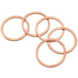 Conjunto de Anéis de Bronze com 5 Unidades