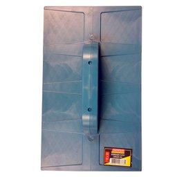 Desempenadeira Plástica Corrugada Azul 18 x 30 cm