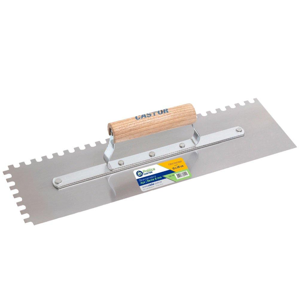 Desempenadeira Dentada em Aço 12 x 35 cm