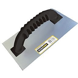 Desempenadeira Lisa de Aço com Cabo de PVC 12 x 24 cm