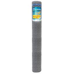 Tela Hexagonal Coleira Branca 2 Pol. x 1,24mm x 1,50m 18 BWG 50 Metros