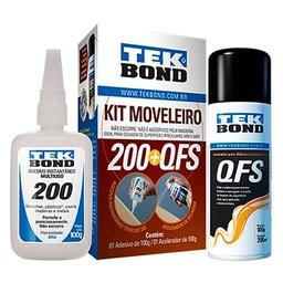 Kit Moveleiro - Adesivo Instantâneo e Acelerador de Secagem QFS