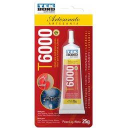 Adesivo Permanente para Artesanato T6000 25g