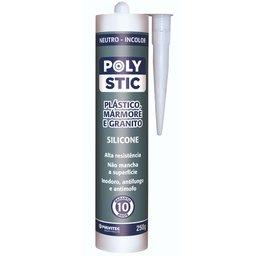 Silicone Neutro Polystic Plástico Mármore e Granito Incolor 250g