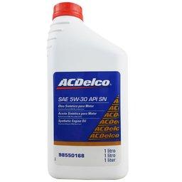 Óleo Lubrificante do Motor ACDelco SAE 5W30 API SN 100% Sintético 1L