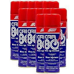 Kit com 12 Descarbonizantes Spray Car 80 300ml
