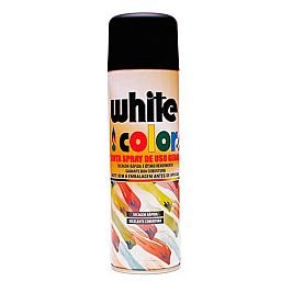 Tinta Spray White Color Preto Fosco 340ml