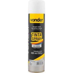 Tinta Em Spray Branca Fosca Com 400 ml