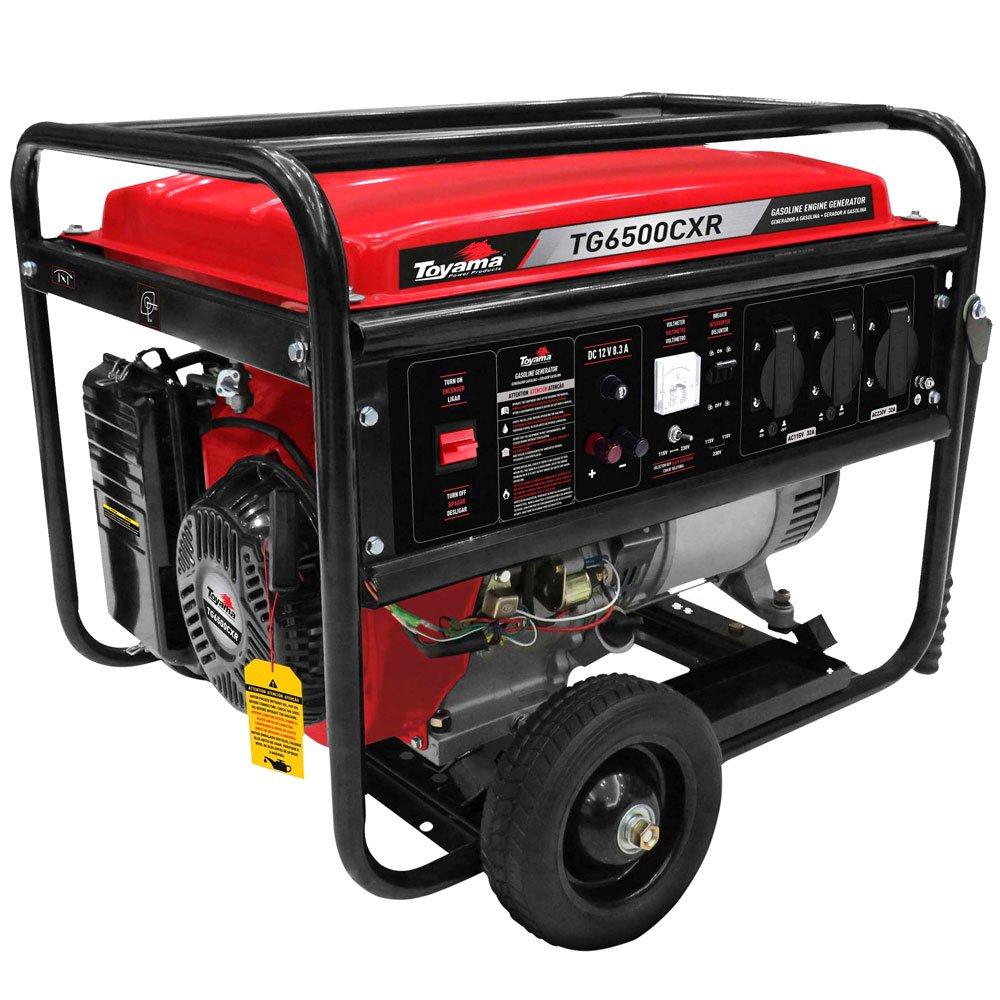 Gerador à Gasolina 4T 389CC 6kVA Bivolt Mono com Partida Manual e AVR