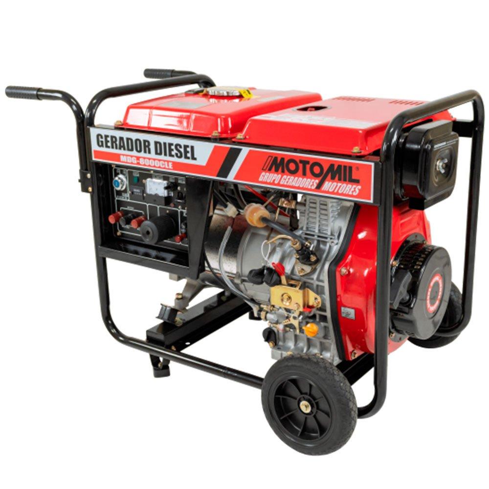 Gerador de Energia à Diesel 4T 13HP 9,6kW com Partida Elétrica MDG-8000CLE