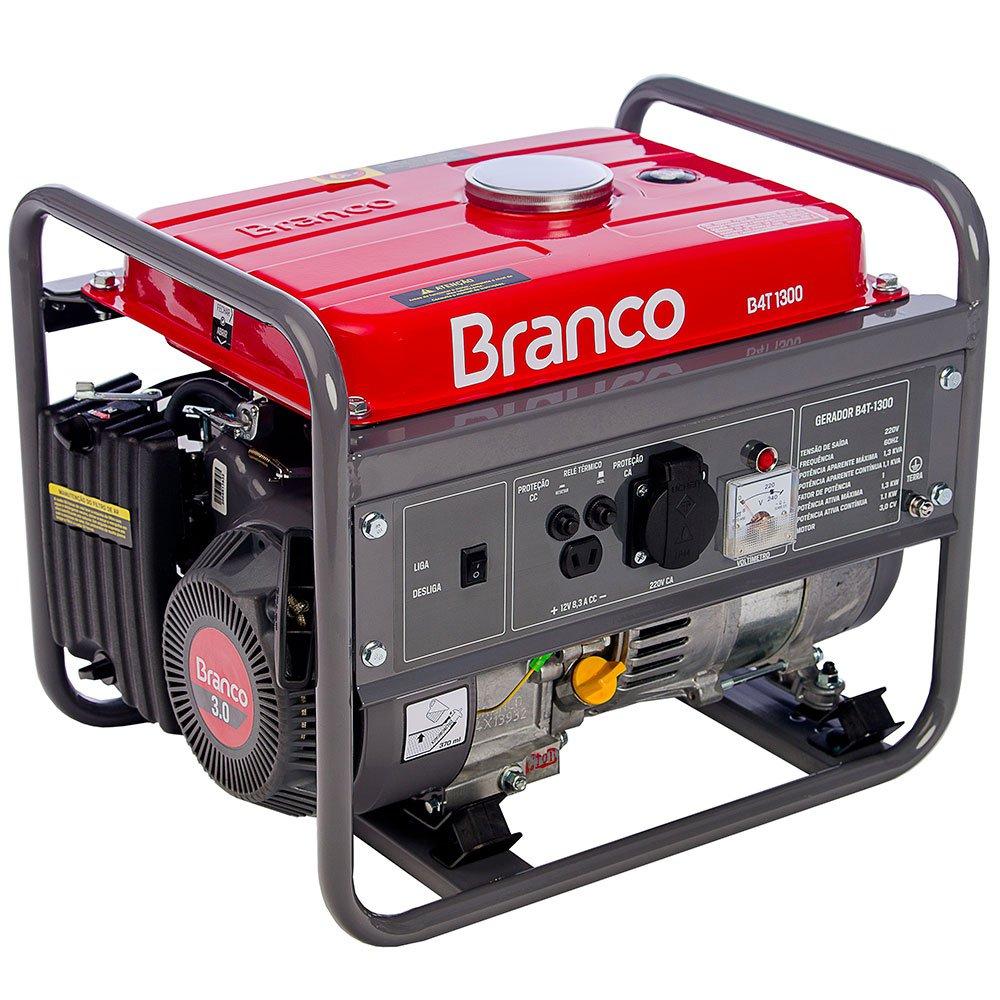 Gerador de Energia à Gasolina 3CV 1.3kva com Partida Manual Monofásico 220V