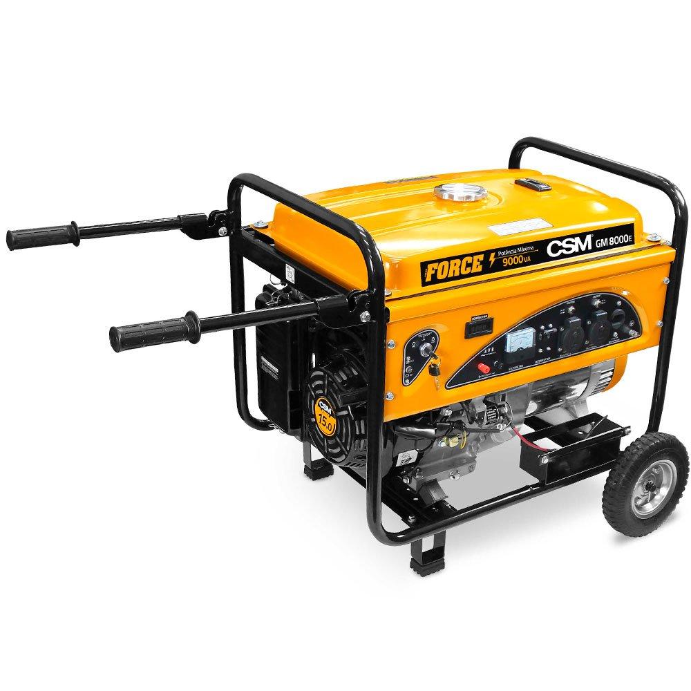 Gerador de Energia à Gasolina GM 8000 E 4T 8,5 Kva 110/220V Partida Elétrica com Rodas