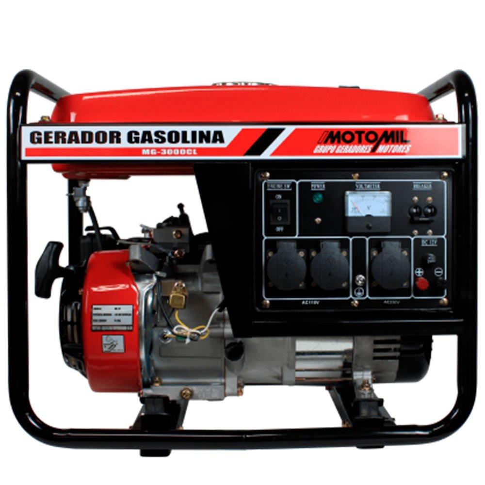 Gerador de Energia a Gasolina 2,5Kva 4T Partida Manual 110/ 220 V