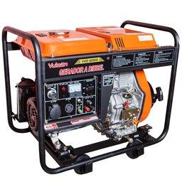 Gerador de Energia a Diesel 4T Partida Eletrica e Manual C/Bateria 7,5 KVA Bivolt