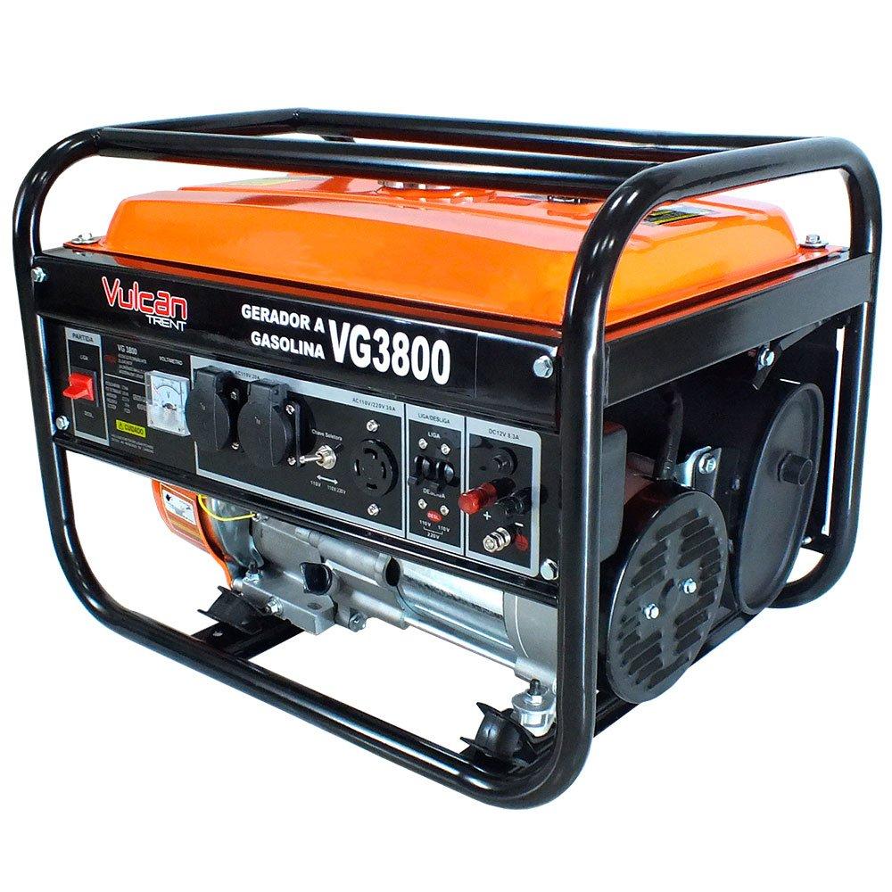 Gerador Gasolina VG3800 4T 208CC 7HP 3.75kva Bivolt Partida Manual