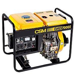 Gerador de Energia Portátil a Diesel 4T Partida Manual e Elétrica 6,25kVA 110/220V