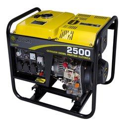 Gerador à Diesel 2500W Monofásico Partida Elétrica 110/220V