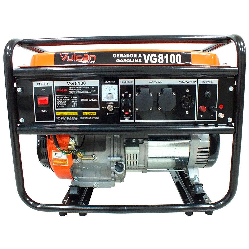 Gerador de Energia à Gasolina 4T 420CC 15HP 6.5kWA Bivolt com Partida Manual