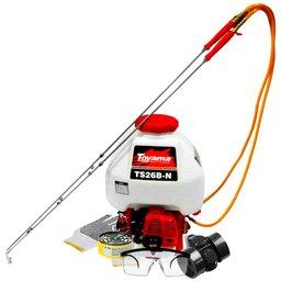 Kit Pulverizador à Gasolina 26CC 25L Toyama TS26BN + Respirador Semifacial CG306 + Cartucho Filtro RC 206 + Óculos e Luva de Segurança