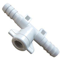 Conector tipo T 3/8 Pol. com Fixador para Barra de Pulverização