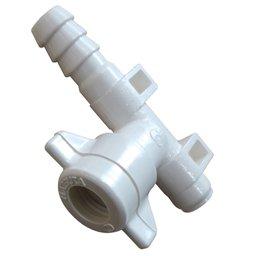 Conector tipo L 1/2 Pol. com Fixador para Barra de Pulverização