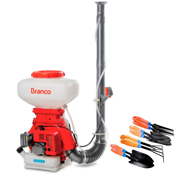 Kit Atomizador Costal à Gasolina BRANCO-90315690 59,2CC + Kit Jardinagem 8 Peças