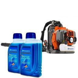 Kit Soprador Costal 50,2CC 1,6KW a Gasolina 350BT Husqvarna 965877501 + 2 x Lubrificantes Premium 500ml