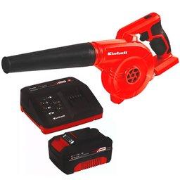 Kit Soprador de Folhas EINHELL-TE-CB18/180LI-SOLO 18V 2 Velocidades + Kit Bateria 18V 4.0 com Carregador 18V EINHELL-4512106 Bivolt
