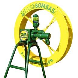 Bomba Com Roda D Água 1P-38 Roda 1.00 x 0.15 M + Cavalete