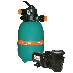 Filtro para Piscina  DFR-12 + Bomba PF-17 1/3CV Mono 127/220/254V